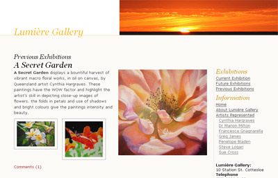 Lumiere Gallery website