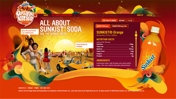 Sunkist content page
